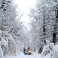 SNOWMOBILES AT ARELAUQUEN MOUNTAIN HUT